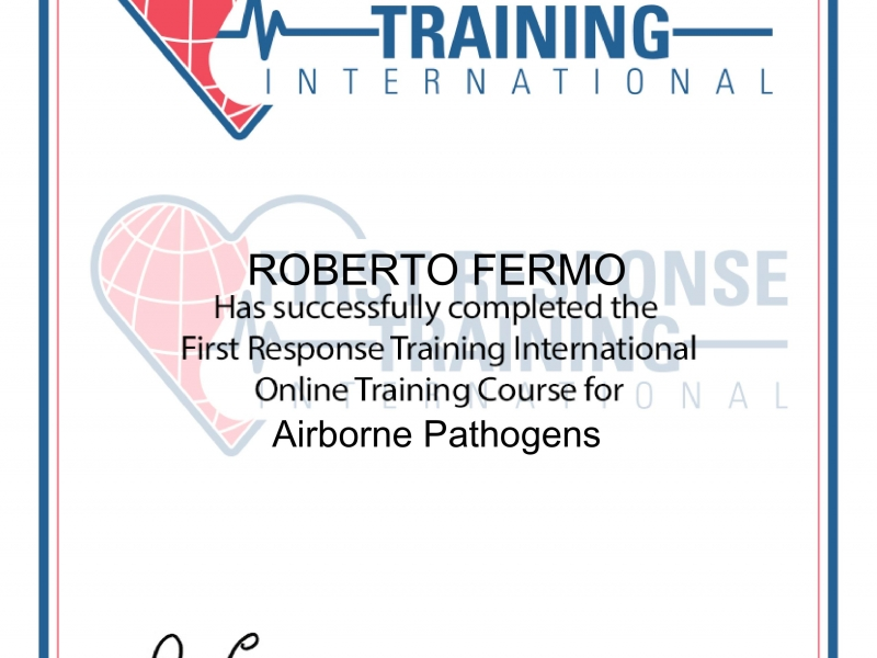 Roberto Fermo Airborne Pathogens on line training