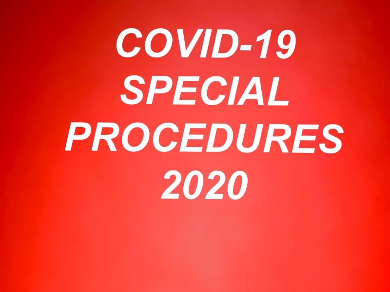 2020 SPECIAL PROCEDURES AGAINST COVID-19